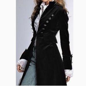 Newport News Long Velvet Coat